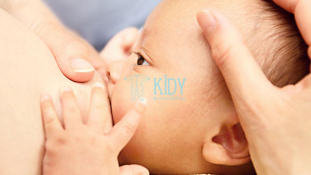 Kodėl vaikas nuolat «kabo» ant krūties?