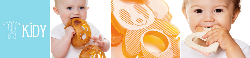 HEVEA PLANET Safe 100% Natural Rubber Teethers