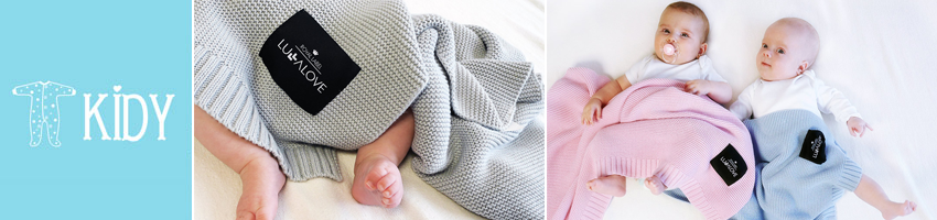 Bamboo ROYAL LABEL knitted plaids by LULLALOVE for infants and babies