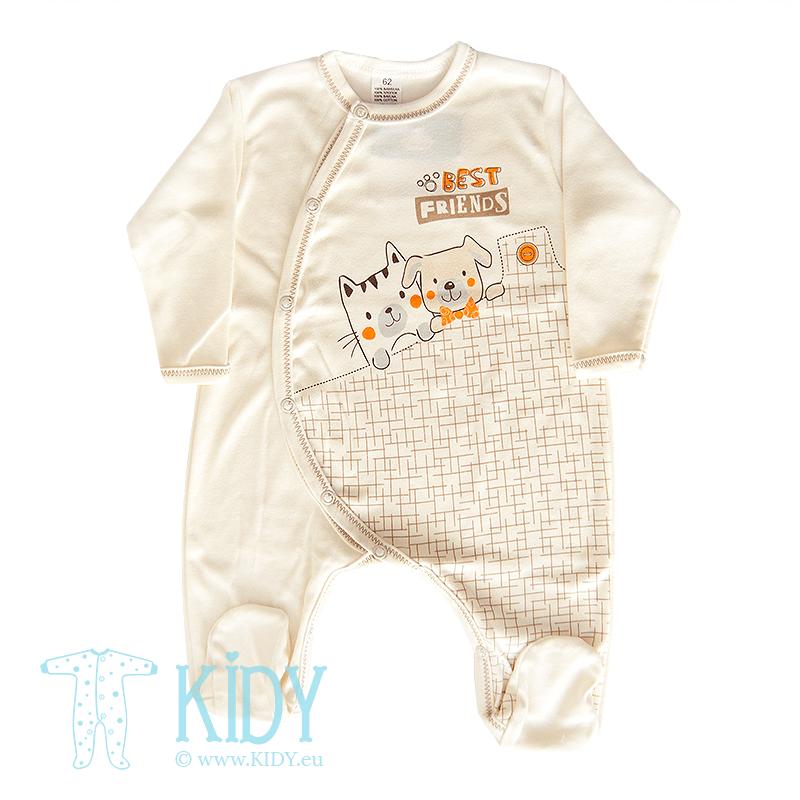 Buy baby sleepsuits BEST FRIENDS (Zuzia) in the online