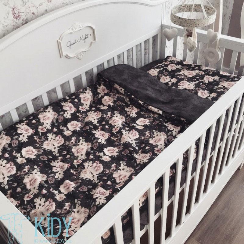 Patalynės komplektas Night Flowers: antklodė + pagalvė (MAKASZKA) 10