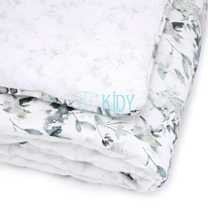 Patalynės komplektas Sage Green: antklodė + pagalvė (MAKASZKA) 10
