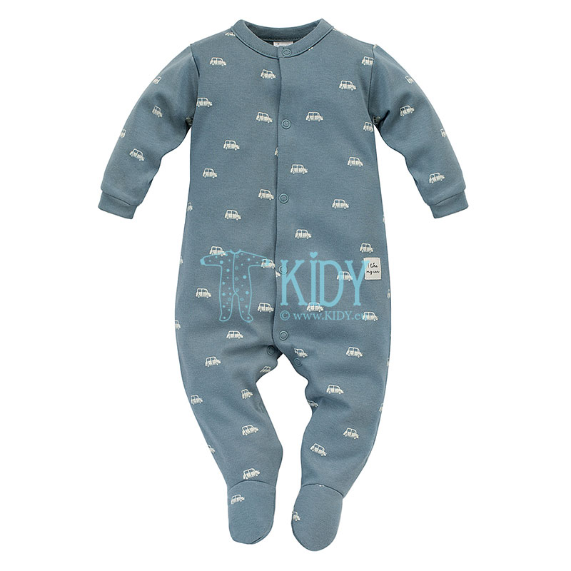 Blue LITTLE CAR sleepsuit