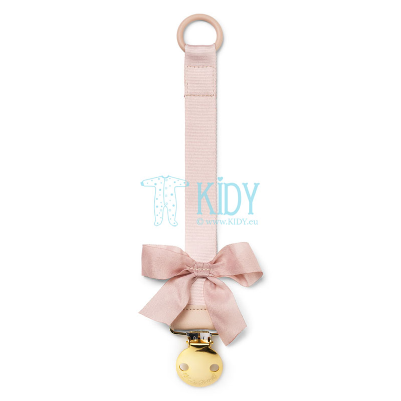 Pink Powder Pink pacifier clip