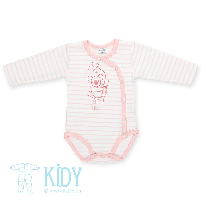 Розовый боди-кимоно HAPPY KIDS