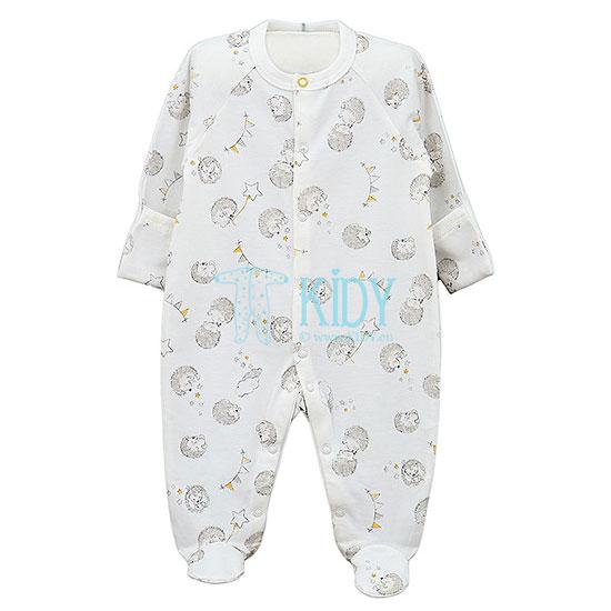 Baltas kombinezonas-pižama POOKY