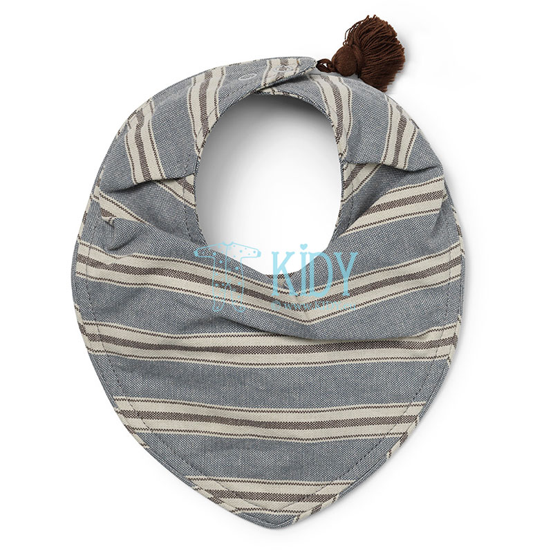 Blue Sandy Stripe dry bib
