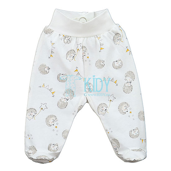 White AOP POOKY footed pants
