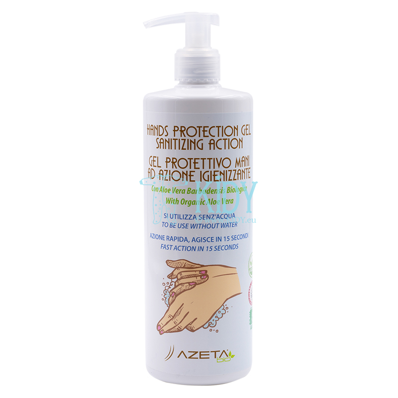 Hand disinfectant gel with aloe and 60% alcohol