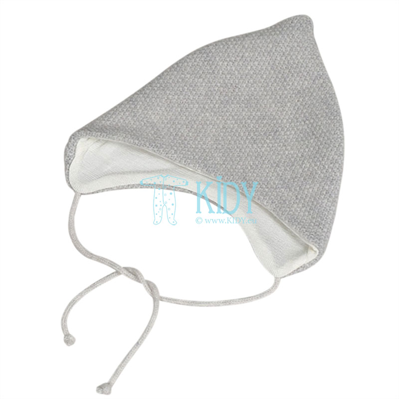 Grey merino wool hat