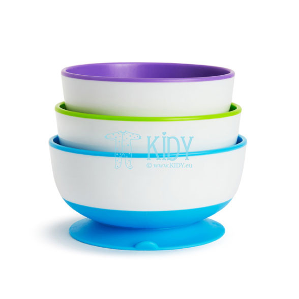 STAY PUT Suction Bowls - 3 Pack