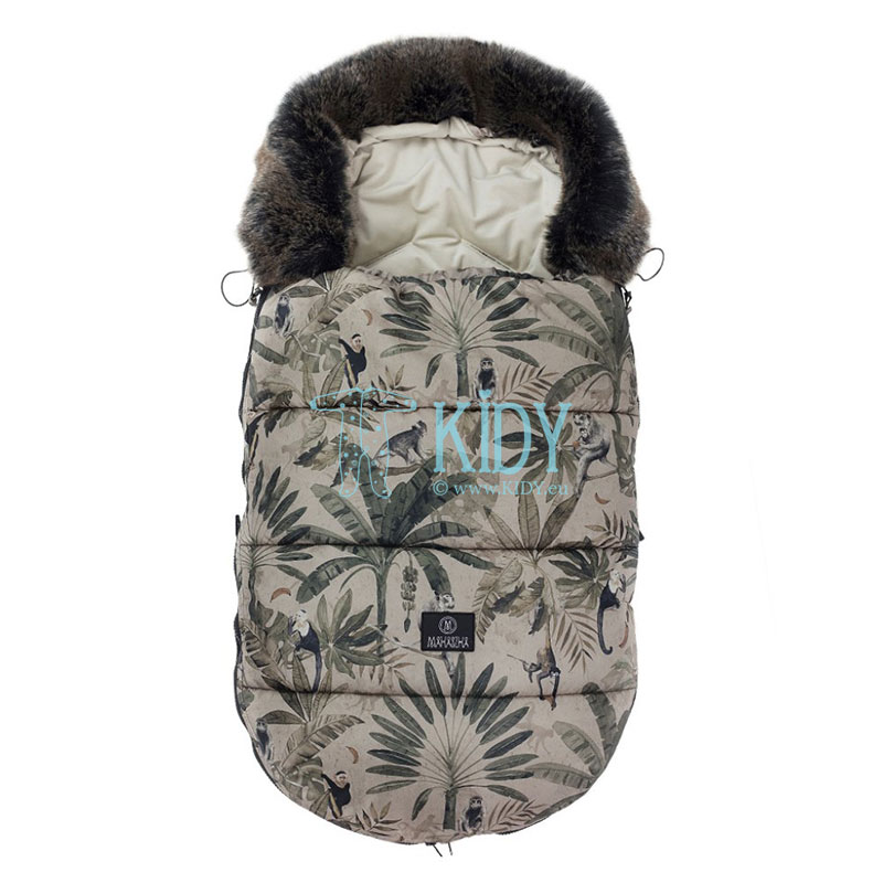 Monkeys stroller footmuff