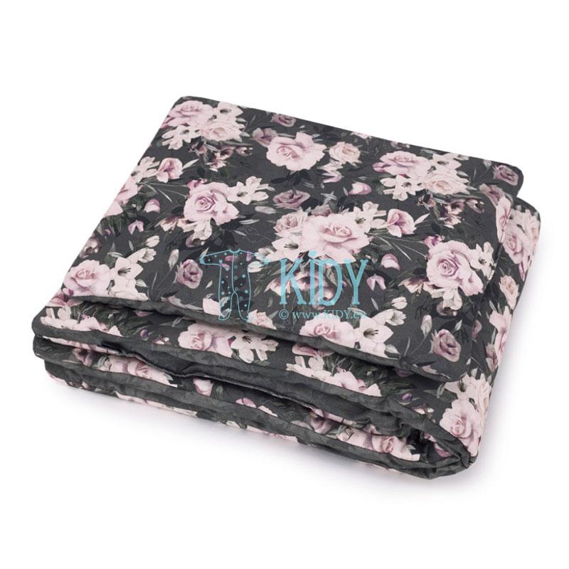 Patalynės komplektas Night Flowers: antklodė + pagalvė