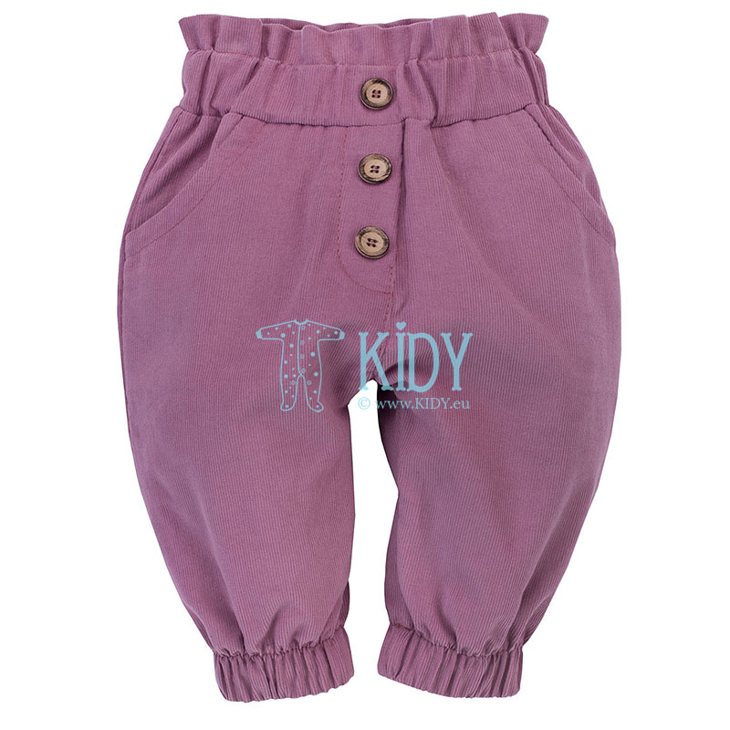 Розовые вельветовые штаны MY GARDEN