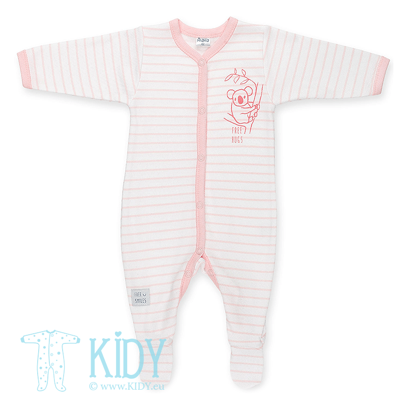 Pink sleepsuit HAPPY KIDS