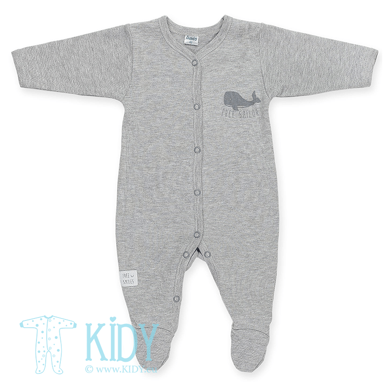 Grey sleepsuit HAPPY KIDS