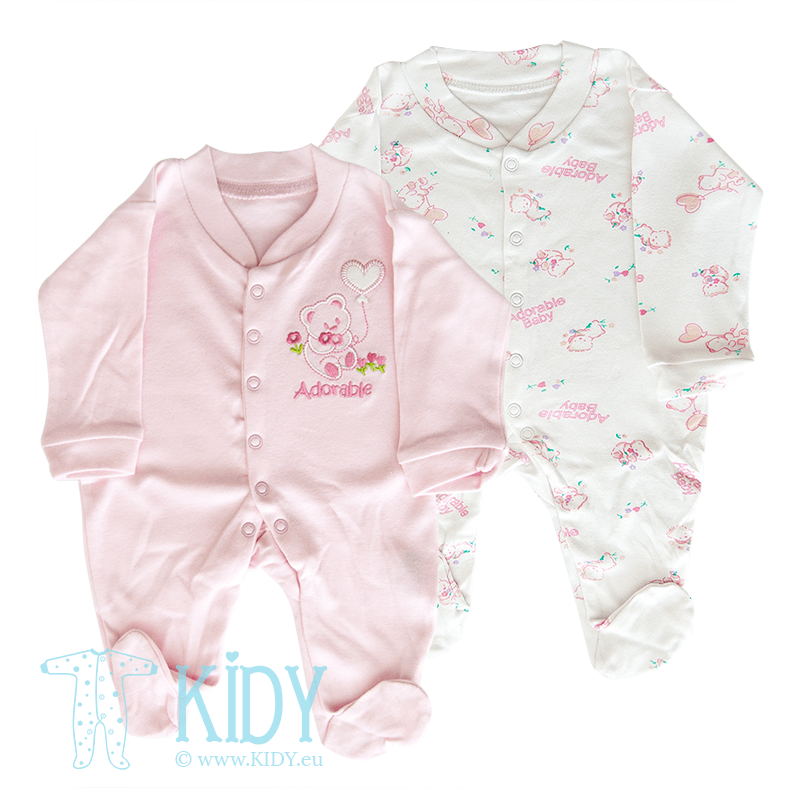 Set ADORABLE BABY: 2 sleepsuits