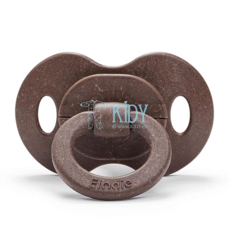 Бамбуковая пустышка Chocolate круглой формы