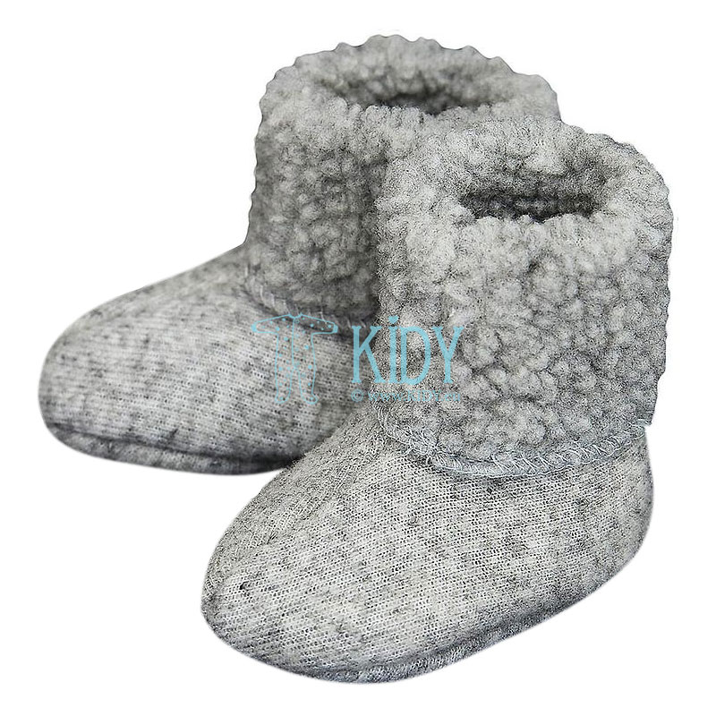 Grey PLUSH merino wool booties