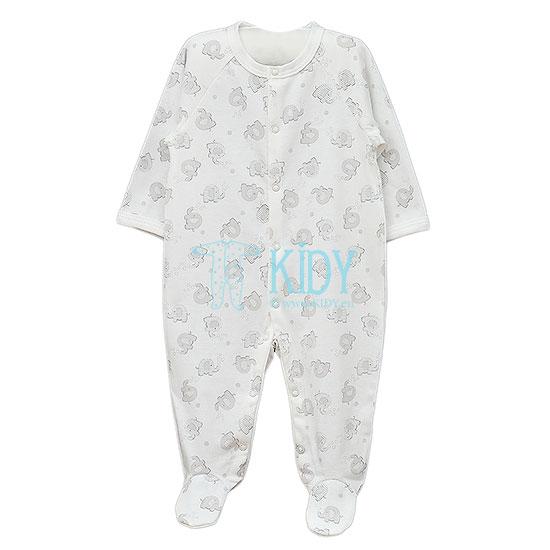 Baltas kombinezonas-pižama MOMO