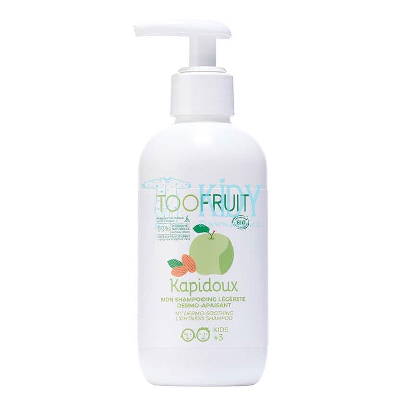 Natūralus šampūnas be ašarų su žaliu obuoliu ir saldžiųjų migdolų aliejumi