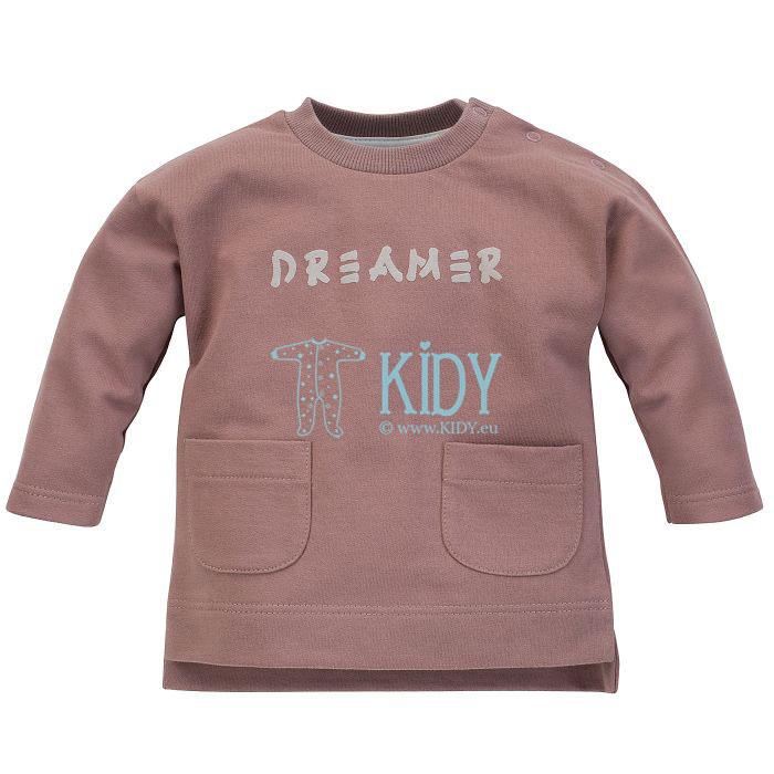 Tamsiai smėlinė marškinėliai DREAMER
