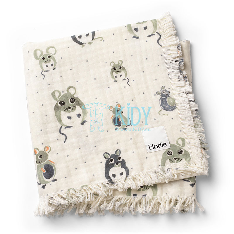 Soft Cotton Blanket Forest Mouse