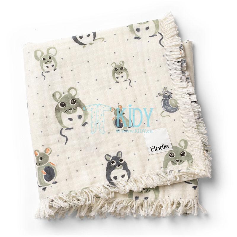 Мягкое хлопковое одеяло Forest Mouse