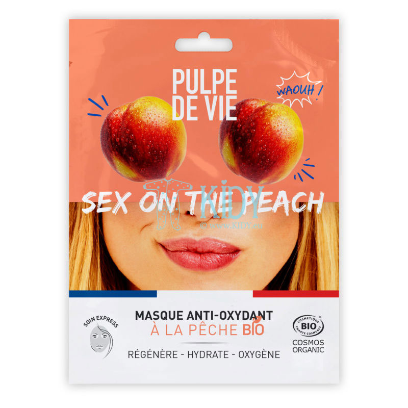 Deeply moisturizing sheet mask SEX ON THE PEACH for tired skin with organic peach