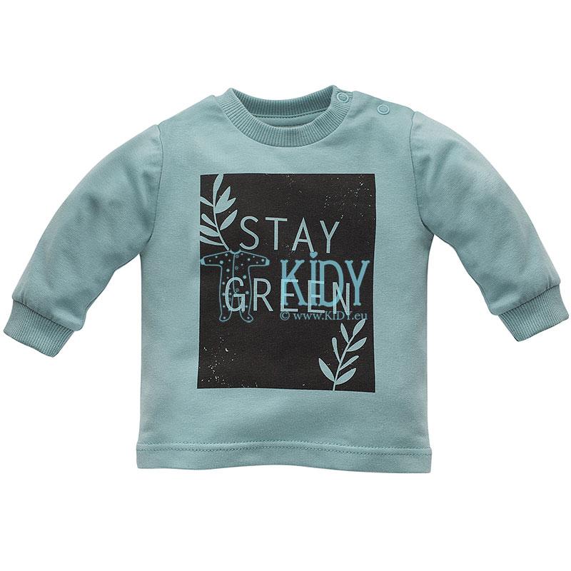 Turkio spalvos marškinėliai STAY GREEN