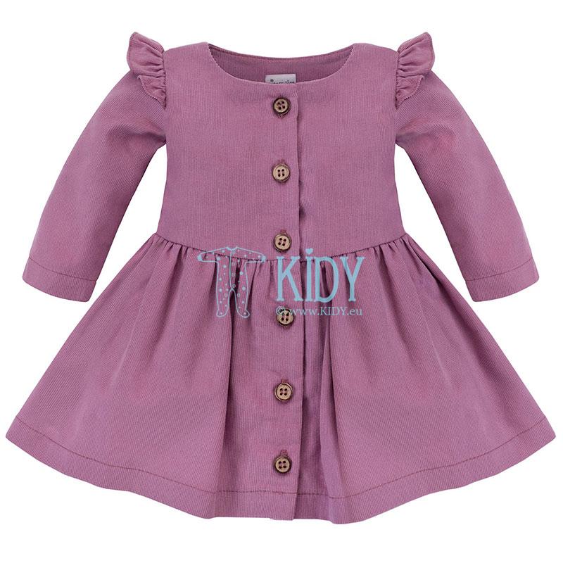 Розовое вельветовое платье MY GARDEN
