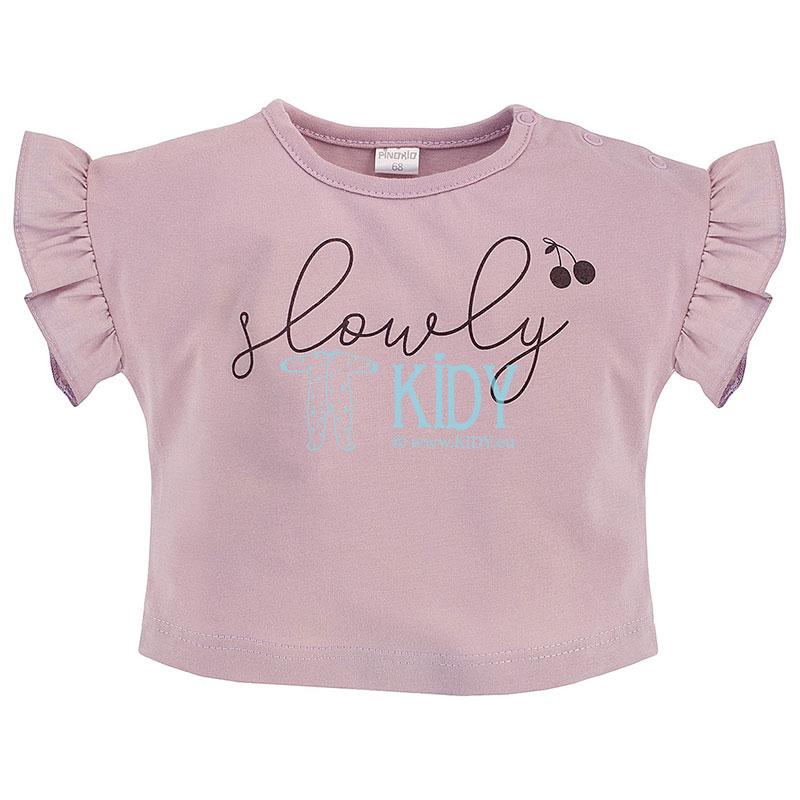 Rožini marškinėliai SWEET CHERRY trumpomis rankovėmis