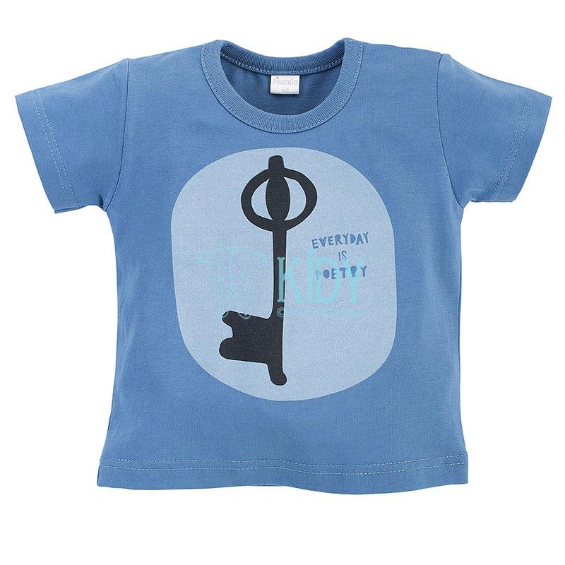 Mėlyni marškinėliai SUMMERTIME trumpomis rankovėmis