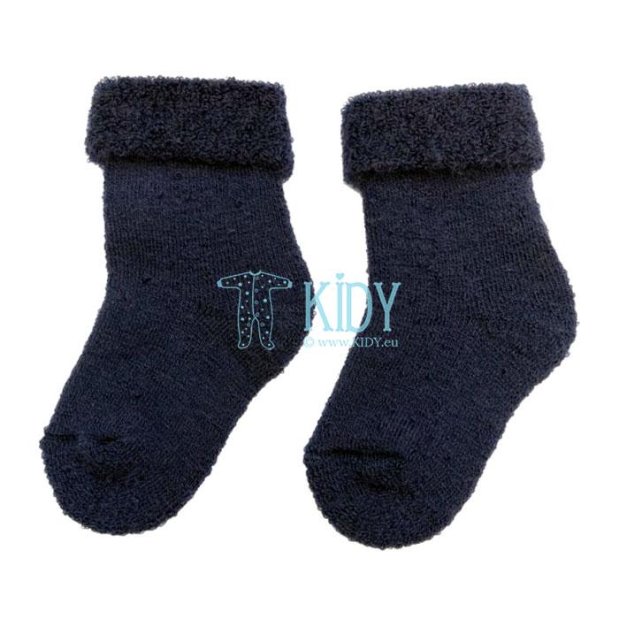 Mėlynos merino vilnos kojinytės