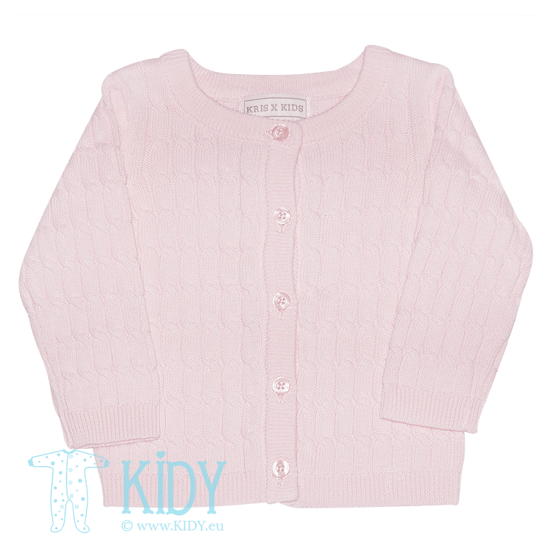 Rožinis megztinukas BUTTERFLY