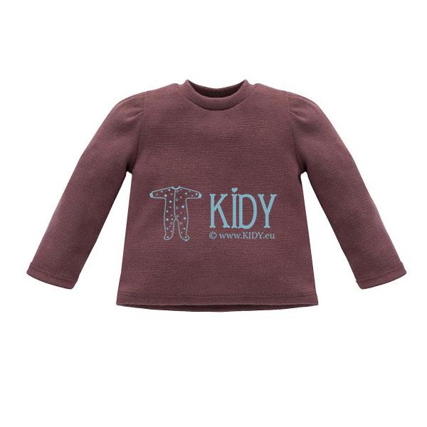 Bordo spalvos megzti marškinėliai JULIA