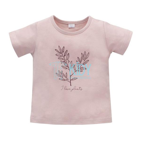 Rožiniai marškinėliai trumpomis rankovėmis JULIA