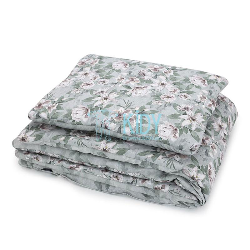 Patalynės komplektas Vintage Flowers: antklodė + pagalvė