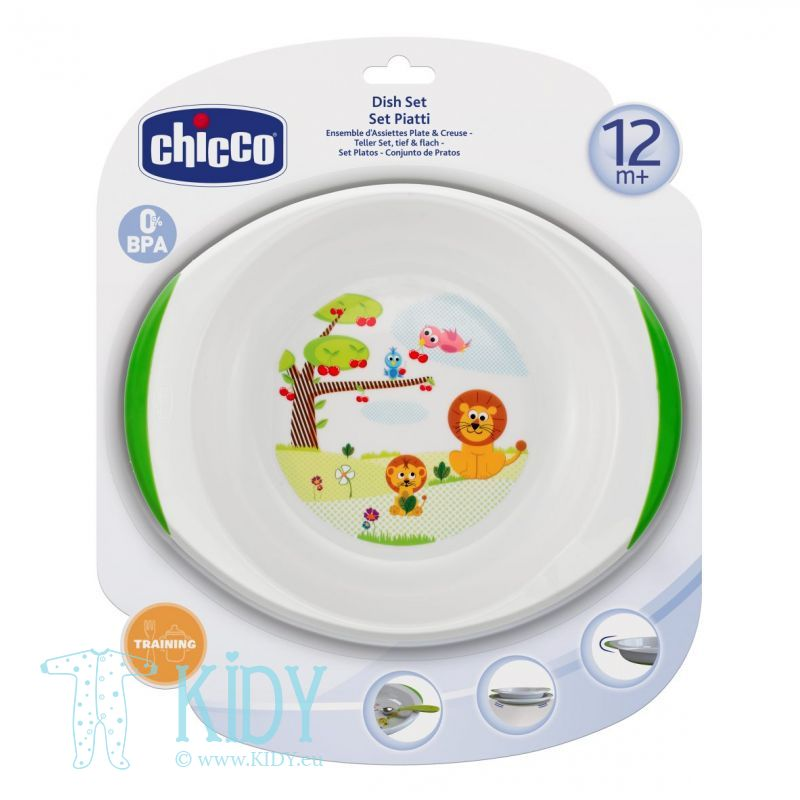 Dish set: plate and bowl (Chicco)