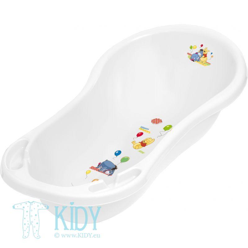 OKT KIDS baby bath with plug Winnie the Pooh 100cm White 1836