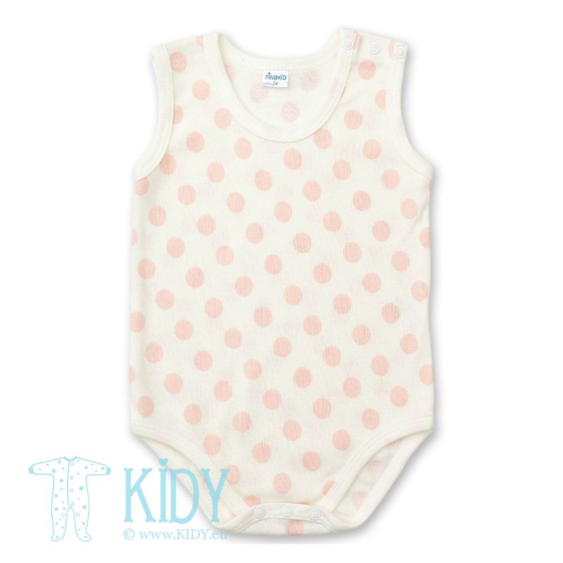 Pink sleeveless PIKOLINA bodysuit