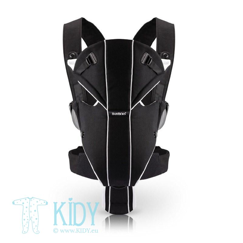 Baby carrier Miracle black/silver