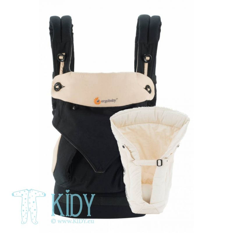 Baby carrier with insert ALL POSITION 360 Black/Camel