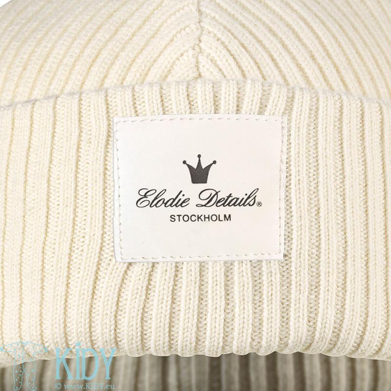 Megzta merino vilnos kepurė Vanilla White (Elodie Details) 2