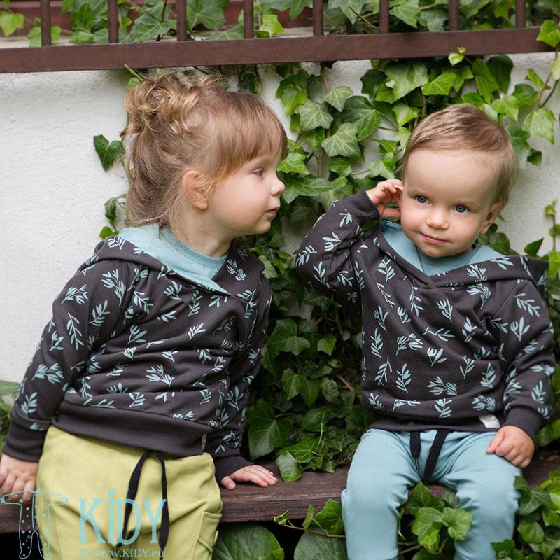 Grey STAY GREEN hoodie
