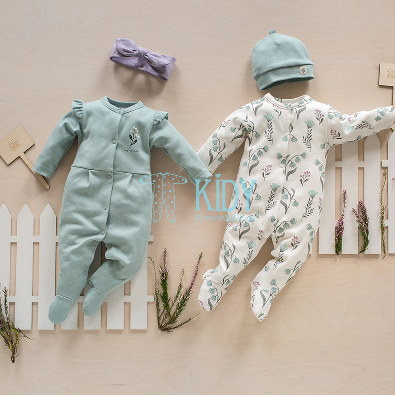 Mint MY GARDEN sleepsuit
