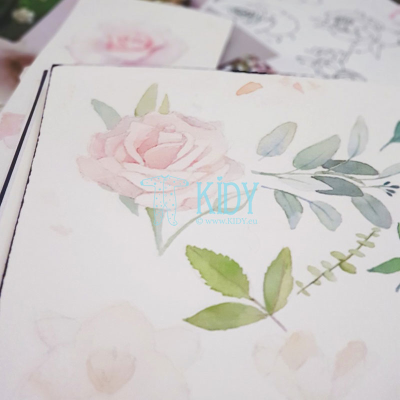 Double-sided Night Flowers envelope for newborns
