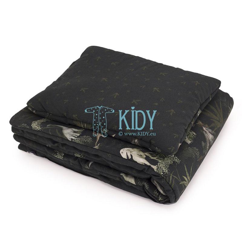 Patalynės komplektas Dino World: antklodė + pagalvė