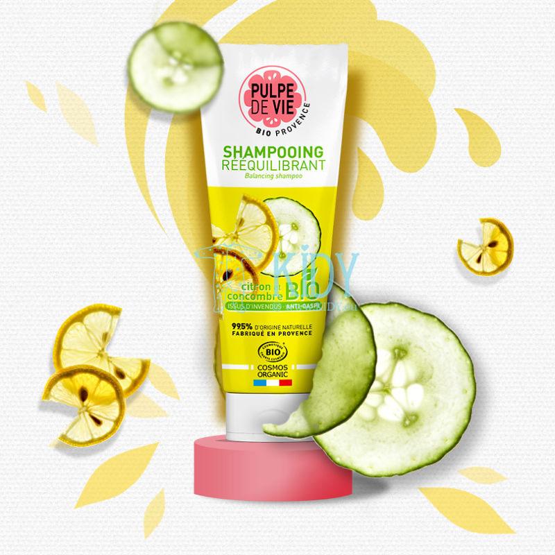 Organisks šampūns Sorbet Givré taukainiem matiem ar gurķi un citronu