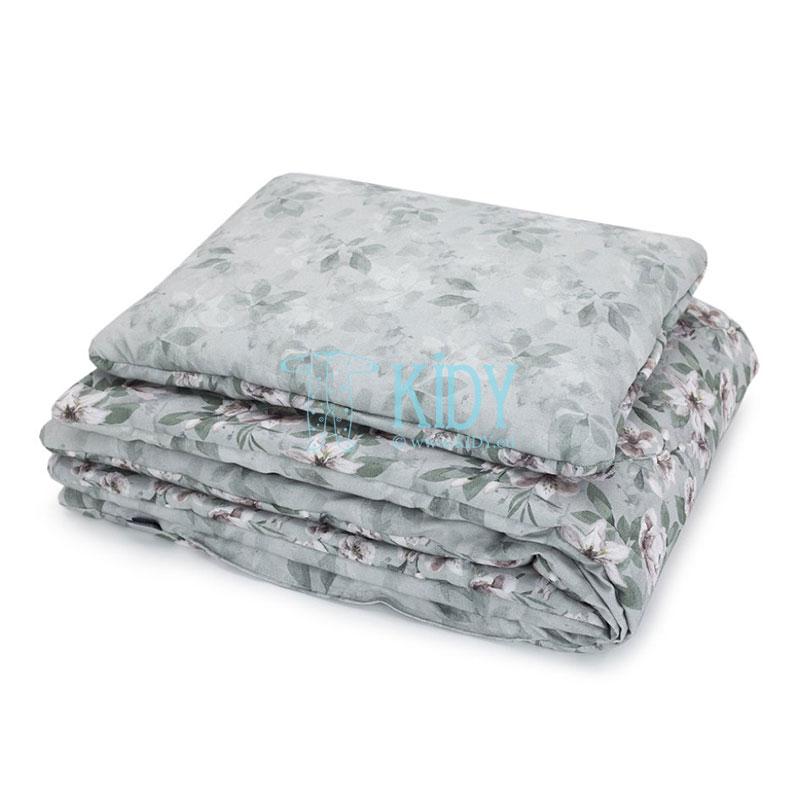 Patalynės komplektas Vintage Flowers: antklodė + pagalvė (MAKASZKA) 2